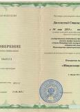 Дасковский Станислав Владимирович:фото сертификатов, диплома