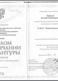 Кайзеров Евгений Владимирович:фото сертификатов, диплома