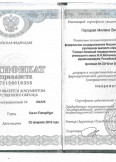 Горецкая Милана Вячеславовна:фото сертификатов, диплома