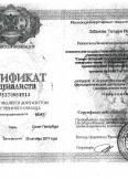 Лобанова Татьяна Ивановна:фото сертификатов, диплома